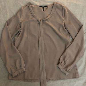 BCBG taupe blouse